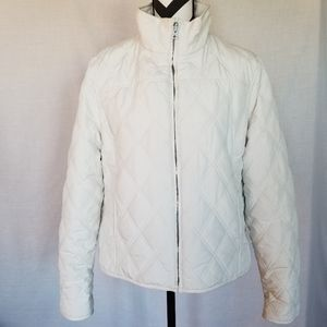 Weatherproof Reversible Quilted/Minky Jacket Ivory